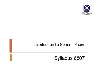 Introduction to General Paper