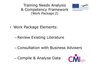 Training Needs Analysis  & Competency Framework (Work Package 2)