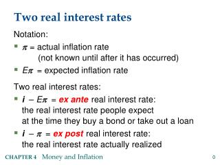 Two real interest rates