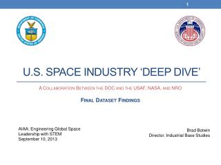 U.S. Space Industry 'Deep Dive'