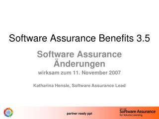 Software Assurance Benefits 3.5