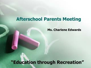 Afterschool Parents Meeting