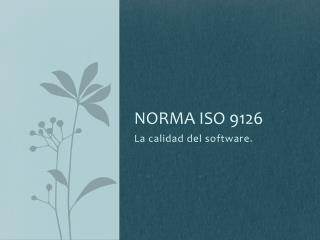 Norma ISO 9126