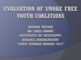 Tobacco Free Youth Coalitions
