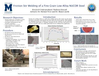 Friction Stir Welding of a Fine Grain Low-Alloy NUCOR Steel