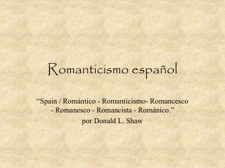 Romanticismo español