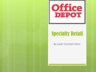 Specialty Retail