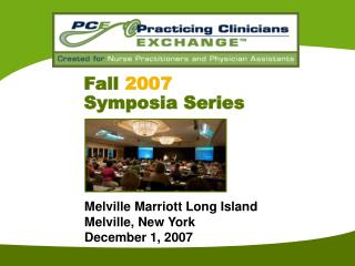 Fall 2007 Symposia Series