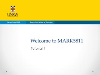 Welcome to MARK5811