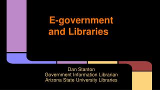 E-government and Libraries