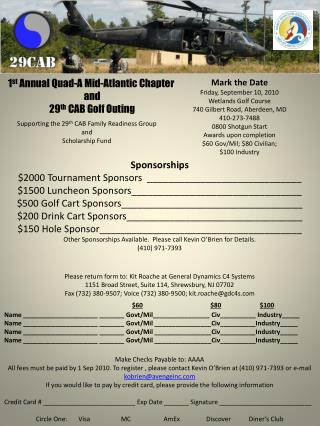 1 st  Annual Quad-A Mid-Atlantic Chapter  and 29 th  CAB Golf Outing