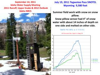 July 19, 2011  Togwotee  Pass SNOTEL Wyoming  9,580 feet