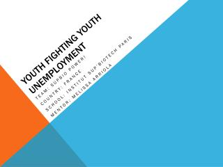 Youth fighting youth unemployment