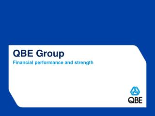 QBE Group Financial performance and  strength