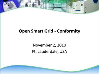 Open Smart Grid - Conformity