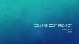 College Cost Project