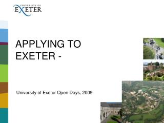 APPLYING TO EXETER -