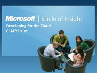 Developing for the Cloud  CLAEYS Kurt