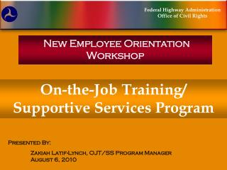 New Employee Orientation Workshop