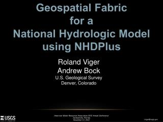 Geospatial Fabric  for  a  National  Hydrologic Model using NHDPlus