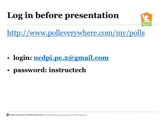 Log in before presentation