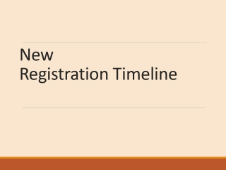New Registration Timeline