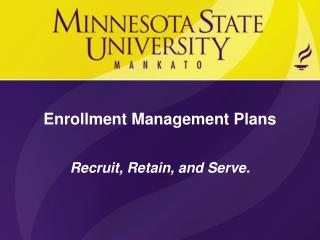 Enrollment Management Plans