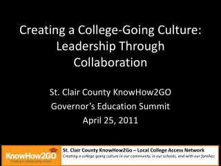 Creating a College-Going Culture: Leadership Through Collaboration