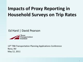 Impacts of Proxy Reporting in Household Surveys on Trip Rates