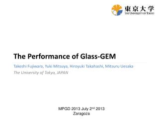 The Performance of Glass-GEM