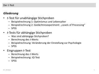 Der  t -Test
