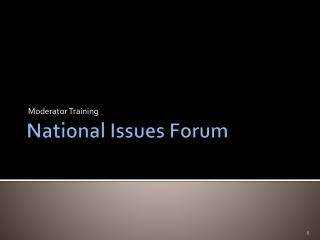 National Issues Forum