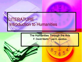 LITERATURE Introduction to Humanities