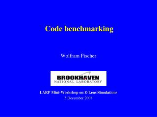 Code benchmarking