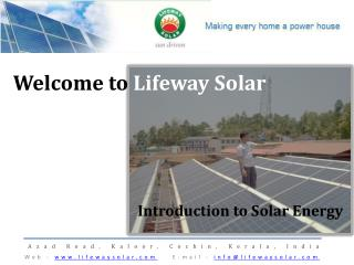 Welcome to  Lifeway  Solar