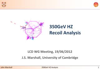 350GeV HZ Recoil Analysis