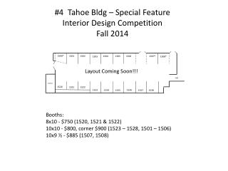 #4  Tahoe  Bldg  – Special Feature Interior Design Competition Fall 2014