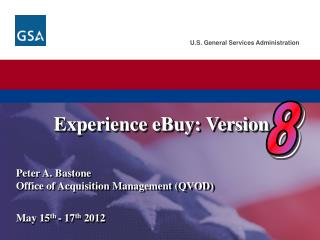 Experience  eBuy :  Version 8