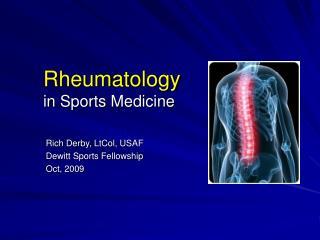 Rheumatology in Sports Medicine