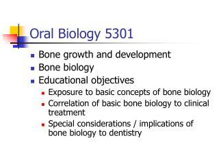 Oral Biology 5301
