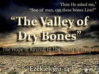 """""""The Valley of Dry Bones"""""""