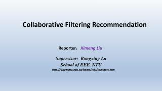 Collaborative Filtering Recommendation