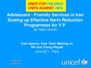 Inter-Agency Task Team Meeting on  HIV and Young People June 2011 - Paris