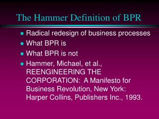 The Hammer Definition of BPR