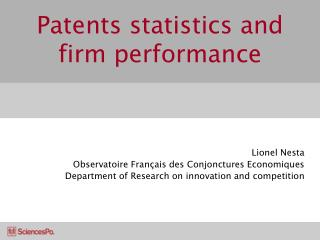Patents statistics and firm performance