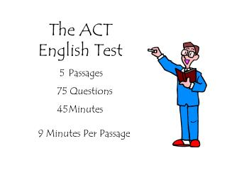 The ACT  English Test
