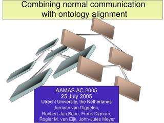 Combining normal communication  with ontology alignment