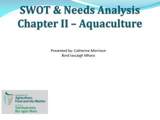 SWOT & Needs Analysis Chapter II – Aquaculture