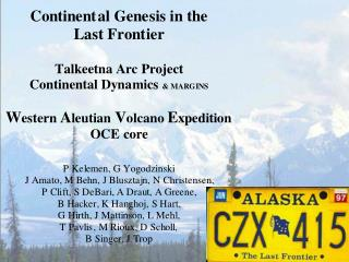 "major elements in continental crust like ""calc-alkaline"" arc andesite & dacite"