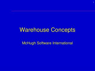 Warehouse Concepts